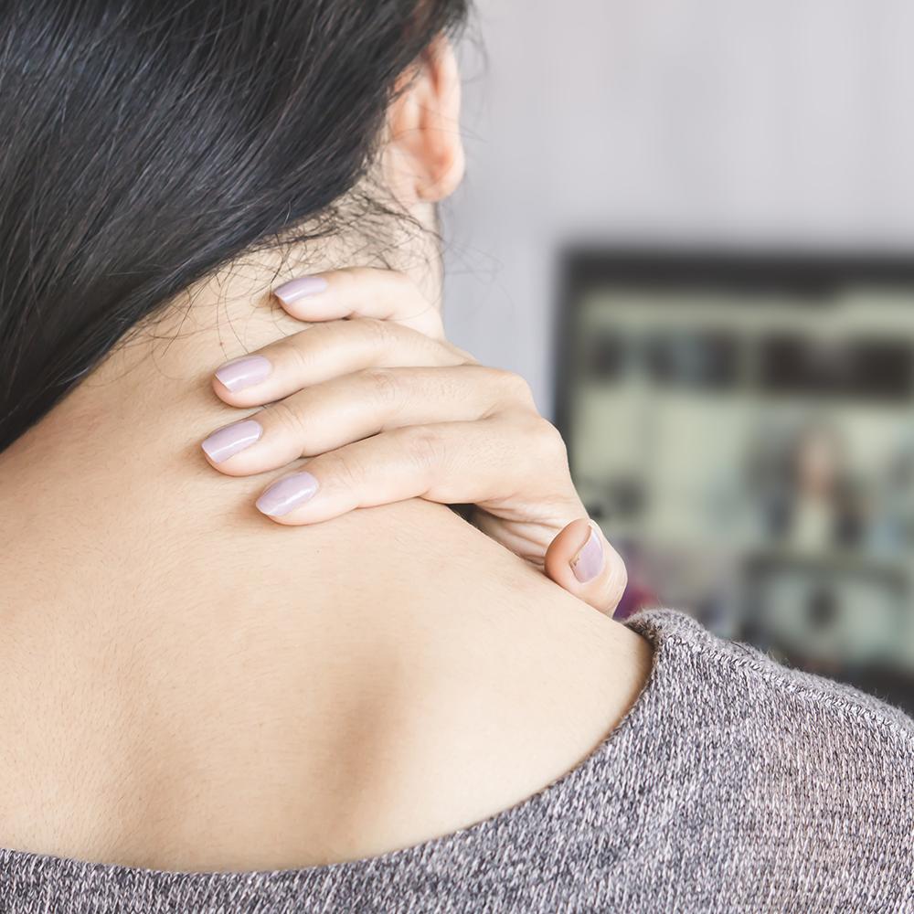 Symptom diskusprolaps i nakken